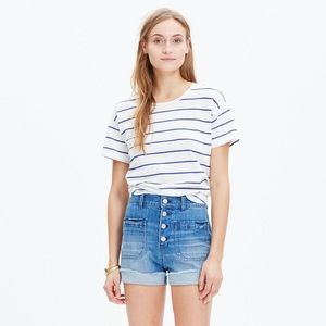 Madewell High Rise Denim Button Fly Shorts